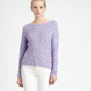 Alice + Olivia purple knit crew neck sweater L